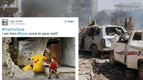 Bewegend: Syrische Kinder bitten mit Pokémon um Hilfe