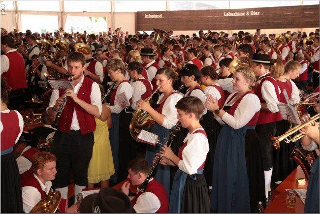 Musikanten in Feierlaune