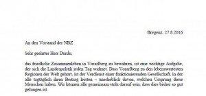 """Landeshauptmann Markus Wallner: """"Kein Platz für türkische Innenpolitik in Vorarlberg"""""""