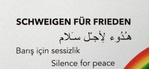 """""""Schweigen für Frieden"""" in Hohenems startet wieder"""