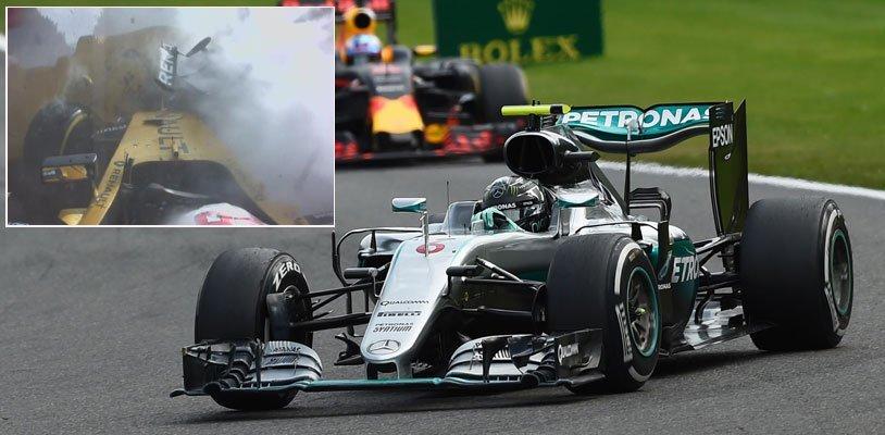 Spa: Magnussen übersteht heftigen Crash, Sieg geht an den Favoriten Nico Rosberg