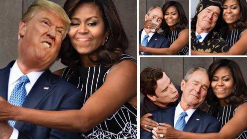 Michelle und George W. Bush: Das sind die8 lustigsten Photoshop-Montagen im Netz