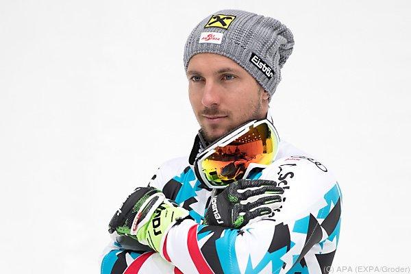 Der Skifahrer hat Chancen auf das Triple