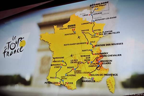 Der Streckenplan der Tour 2017