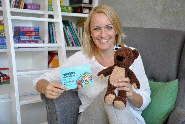 """""""Teddy Eddy – Achtung! Fertig! Los!"""" heißt Ingrid Hofers erste CD mit Mitmach-Liedern für Kinder ab drei Jahren."""