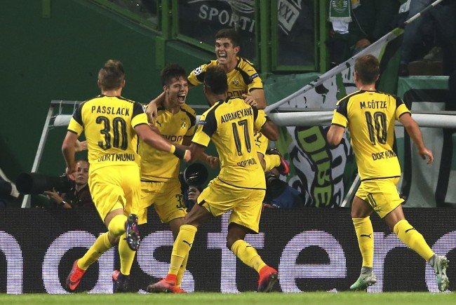 Dortmund jubelte in Lissabon über einen hart erkämpften Sieg.