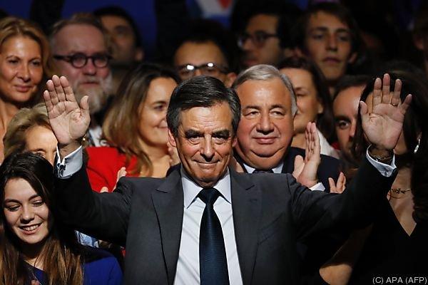 Francois Fillon geht als Favorit in das Rennen