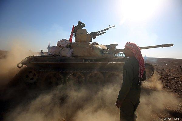 Irakische Spezialtruppen auf dem Vormarsch