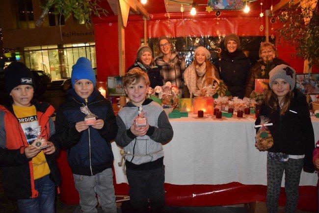 Auch Louis, Lenard, Laurin und Julia unterstützten mit ihrer Spende den Kindergarten in der Mongolei