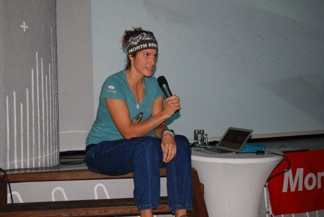 Tamara Lunger, die Spitzenalpinistin, war erstmals zu Gast in Vorarlberg.