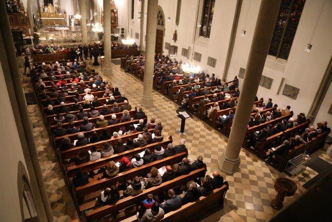 Im Feldkircher Dom lud die Musikschule Feldkirch zum Konzert zugunsten der Lebenshilfe Vorarlberg.