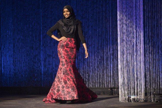 Halima Aden bei der Wahl zur Miss Minnesota