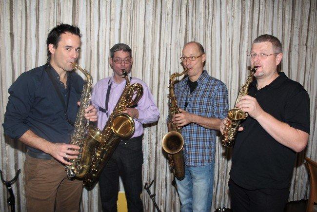 """""""Just4fun"""": Mathias Giesinger, Stefan Geiger, Robert Bernhard und Markus Böhler."""