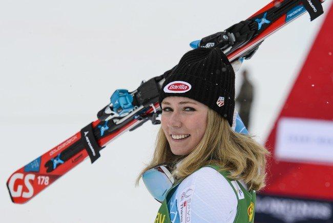 Shiffrin Halbzeitführende im Killington-Slalom