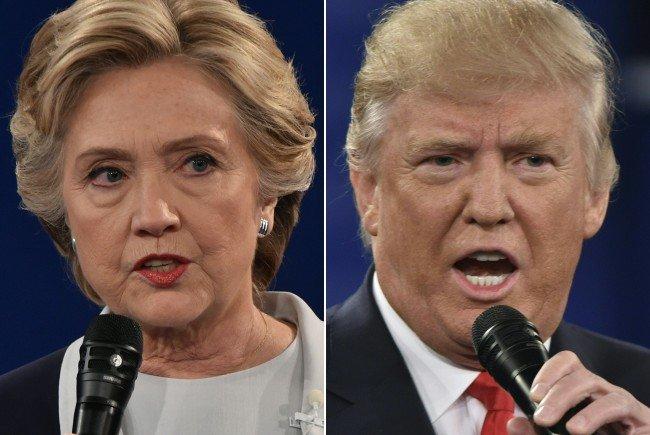 Am Dienstag kommt es zum Showdown zwischen Hillary Clinton und Donald Trump.