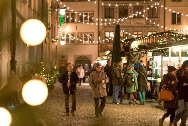 Wunderschöner Weihnachtsmarkt in Feldkirch.