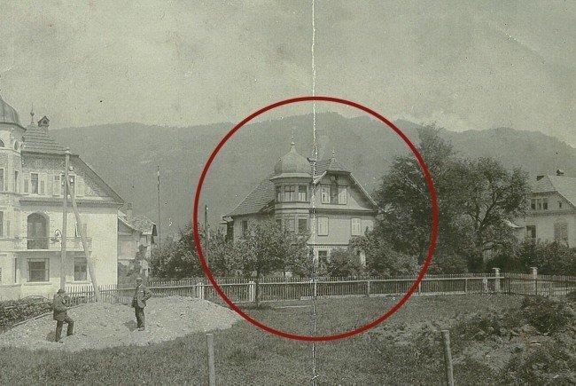 Historisches Foto des Villenensembles in der Blumenstraße von 1905