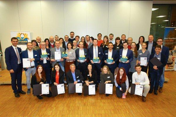 Beste Arbeitgeber 2016 in Vorarlberg: Das sind die Sieger!