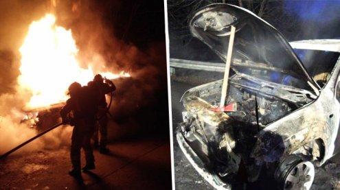 Fahrzeug geht in Flammen auf