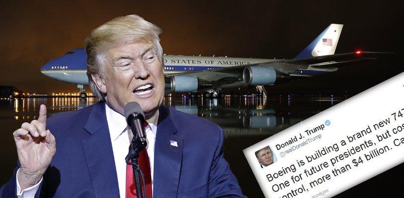Wegen Milliarden-Kosten: Trump bestellt die neue Air Force One über Twitter ab!