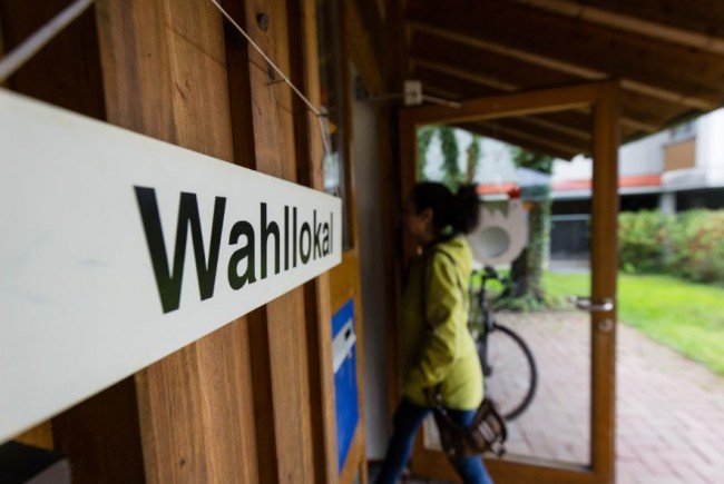 Die Öffnungszeiten der Wahllokale im Bezirk Feldkirch.