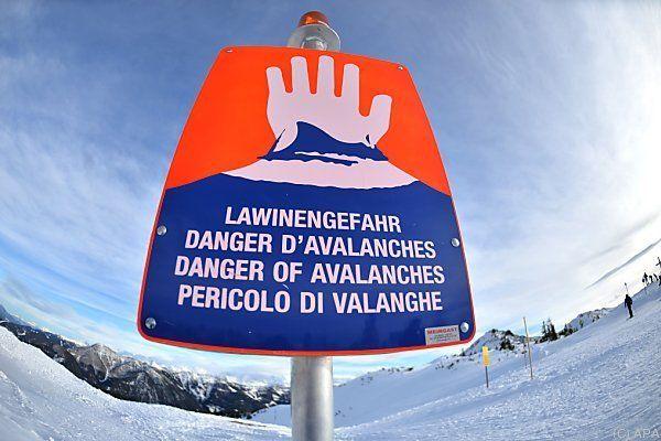 Am Arlberg herrscht Lawinengefahr der Stufe drei