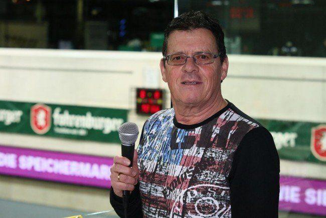 Mehr als dreißig Jahre: Walter Hinteregger ist Stadionsprecher in Hard
