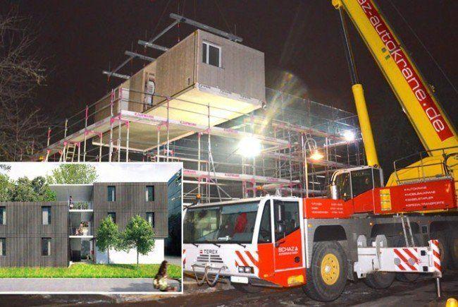 Über Nacht entsteht neues Flüchtlingswohnheim in Konstanz