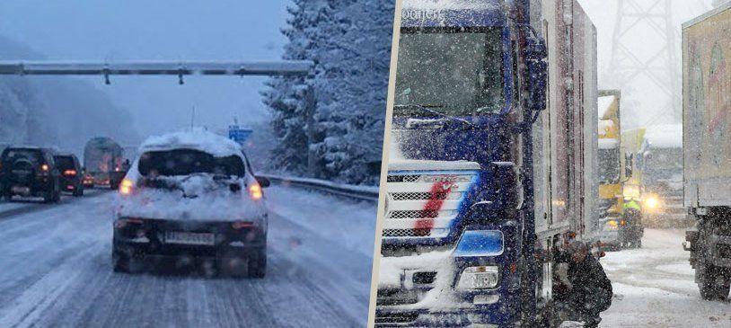 Verkehrschaos auf Vorarlbergs Straßen - Lkw bleiben hängen, lange Staus auf A14