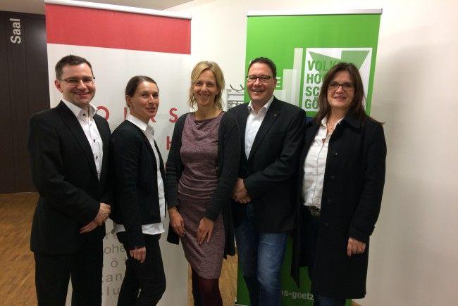 VVV-Vorstand: vlnr: Dr. Michael Grabher, Sabine Häusle, Silke Kromer, Monika Willinger, Mag. Stefan Fischnaller, Dipl.-Eb. Bernadette Madlener.