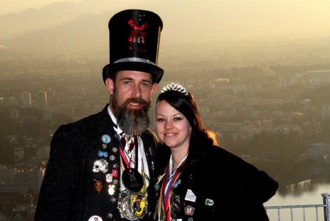 Prinz Thomas und Prinzessin Katja am Pfänderhang