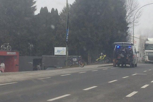 Verkehrsbehinderungen nach Unfall in Lustenau