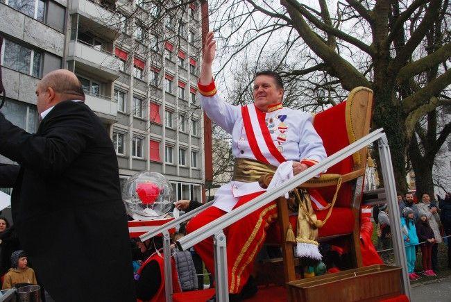 Der Kaiser von Österreich bei seinem Besuch in Bregenz.