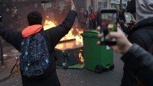 Proteste in Paris: Schüler blockieren Gymnasien