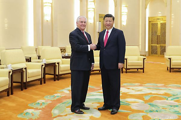 US-Außenminister Tillerson traf Chinas Präsident Xi Jinping