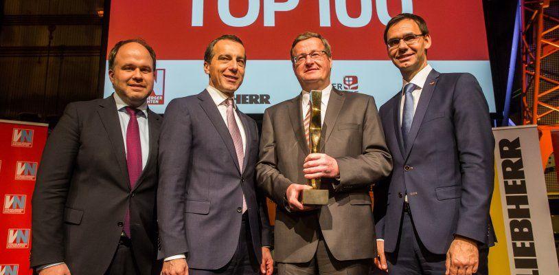 Ganahl AG-Vorstand Dieter Gruber erhält den VN-Wirtschaftspreis 2017