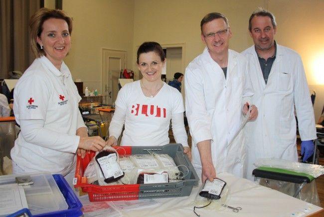 Die alljährliche Blutspende-Aktion Ende März in Lochau hat schon langjährige Tradition.