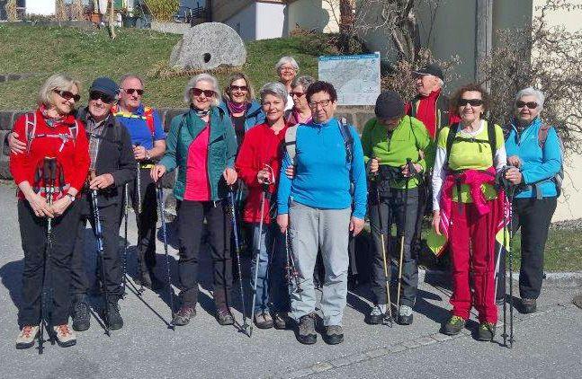 Radteam per pedales wandert zum Kristberg