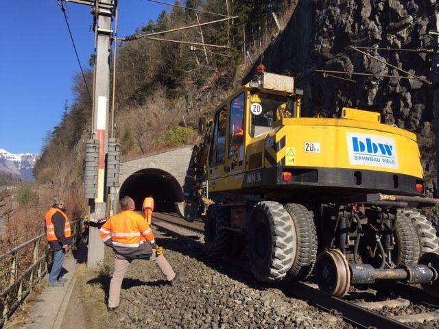 Vorbereitungen zum umweltfreundlichen Bautransport per Bahn wurden getroffen.