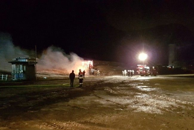 Feuerwehr Reuthe versuchte, den Funken noch zu löschen