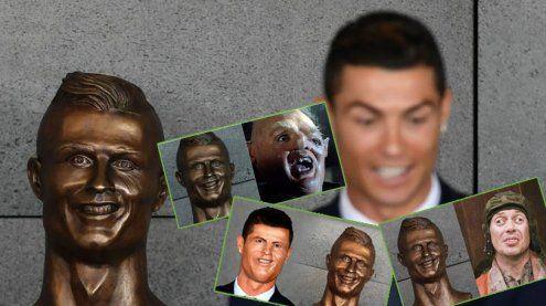 Etwas missglückt: Fußball-Welt lacht über diese Ronaldo-Büste