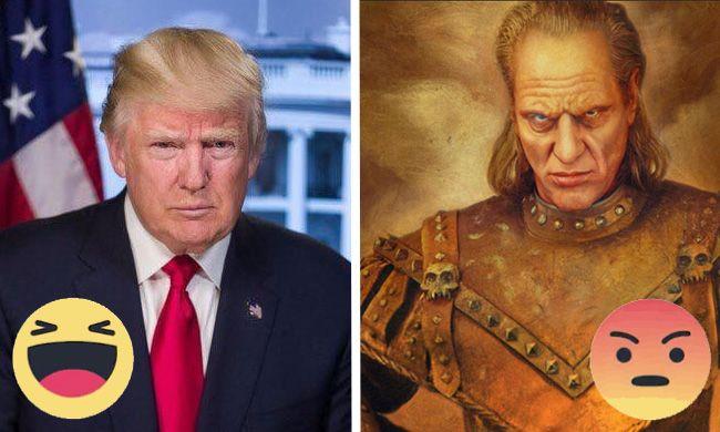Donald Trump oder Ghostbusters-Bösewicht Vigo: Wer schaut grimmiger?