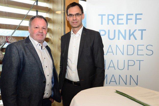 """Landeshauptmann Markus Wallner und Bürgermeister Stefan Bachmann luden zur 90. Auflage der Veranstaltungsreihe """"Treffpunkt Landeshauptmann"""" nach Blons"""