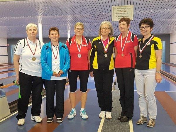 Steffi Schneider, Josef Legen und Milosav Nikolic gewannen PVÖ-Einzelkegelmeisterschaft 2017