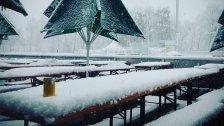 Schnee Spielverderber im Fußball-Unterhaus