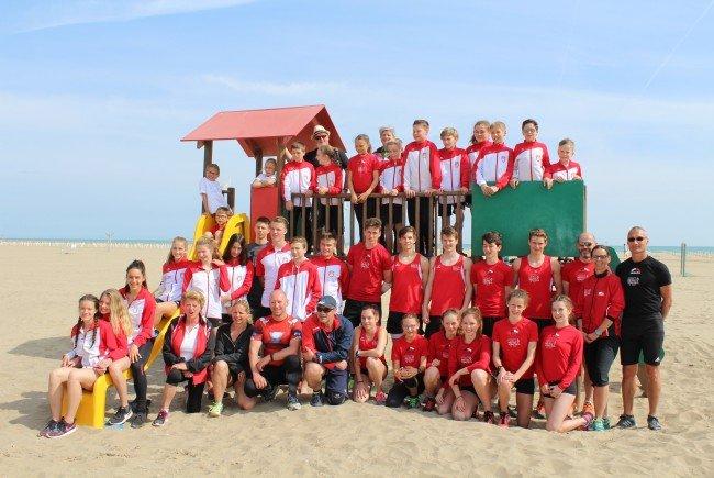 Die Athleten der TS Bregenz-Vorkloster und des SV Lochau verbrachten sechs wertvolle Trainingstage in Caorle.