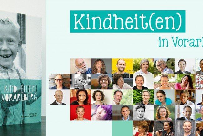 """In """"Kindheit(en) in Vorarlberg"""" teilen 38 (prominente) Persönlichkeiten ihre prägendsten Kindheitserinnerungen."""