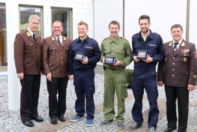 Der glückliche Gewinner Hartmann Wolfgang Feuerwehr Thüringerberg