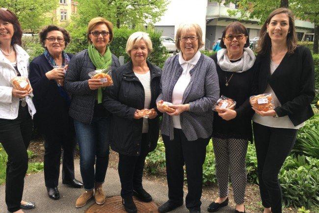 GUTA Vorstandsdamen bei der Osteraktion in den Bregenzer Sozialzentren