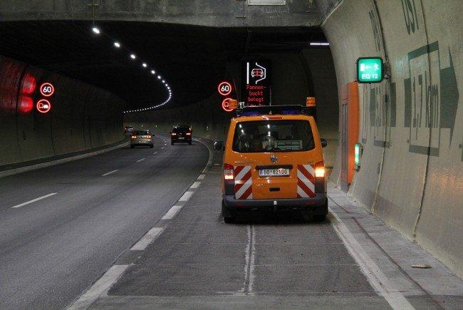 Aufgrund der Videoaufzeichnung im Pfändertunnel konnte die Lenkerin ausgemittelt werden.